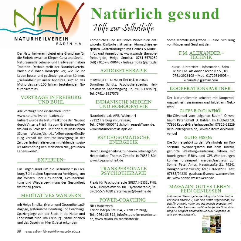 Experte Naturheilverein Baden